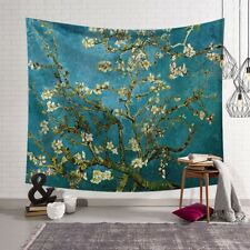 Van Gogh almond blossoms Tapestry Wall Hanging Polyester Bedspread Throw TW