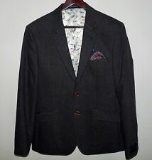 Ted Baker Men's Sicily Wool Blazer Suit Jacket Size 40 Regular Color Grey