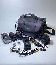 Nikon D3200 Digital Camera Bundle 18-55mm 55-200mm Lenses DF 286 Swivel Flash