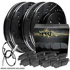 Fit 2007-2010 Mini Cooper Black Hart Full Kit  Brake Rotors+Ceramic Brake Pads