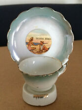 Two Vintage Indiana Beach sovenir cups and saucers