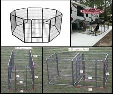 """Dog Kennel Outdoor Pet Play Pen Cat Cage 8 Panels Heavy Duty Metal Exercise 32"""""""