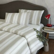 WHITE LINEN BY BELLORA - Italian Gallone Double Duvet Set - Made in Italy