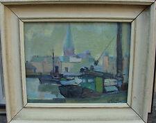 Owe Wessbohn 1913-2003, Schüler von Fernand Léger, Im Hafen von Malmö, dat 1945