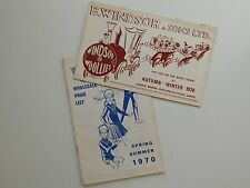 2 Vintage 1970 catalogues Windsor Woollies 1970s childrens fashion clothing y