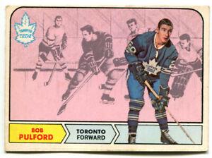 1968-69 OPC Bob Pulford Card #129 Toronto Maple Leafs