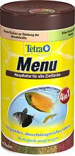 Tetramin Menu 250ml 4 verschiedene Flockenfutter in einer Dose für Abwechslung