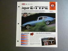 """1961 - 1975 Jaguar E-Type IMP """"Hot Cars"""" Spec Sheet Folder Brochure #5-1 Awesome"""