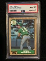 48599394 MARK McGWIRE 1987 Topps 366 RC Rookie PSA 8 NM-MT