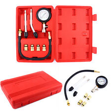 8pc Petrol Gas Engine Cylinder Compression Tester Gauge Kit Car Motorcycles Bike