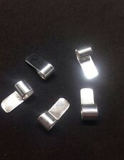 50 X 925 Sterling Silver Glue on Scroll Bails 16x7mm