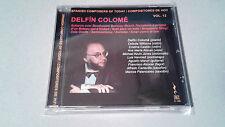 """DELFIN COLOME """"COMPOSITORES DE HOY VOL.12"""" CD 9 TRACKS COMO NUEVO"""