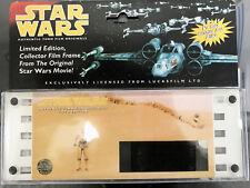 Star Wars Authentic 70mm Film Originals C-3PO 1995 Limited Edition