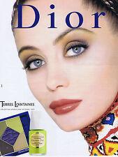 PUBLICITE ADVERTISING 084 1997 DIOR Terres Lointaines maquillage