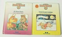 Teddy Ruxpin Lullabies All About Bears Books No Tapes Vintage 1985 Lot of 2