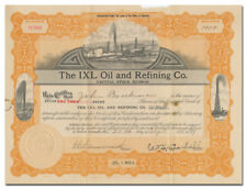 IXL Oil and Refining Co. Stock Certificate (Colorado)