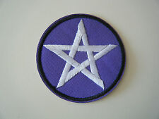 PENTAGRAM PATCH Iron On Occult Pentacle Star in Circle Pagan Witchcraft NEW