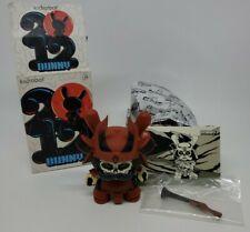 "Kidrobot 3"" Dunny 2012 Series JPK  Jon Paul Kaiser Samurai Warrior Red"
