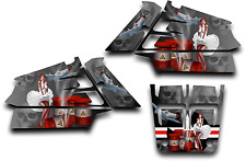 YAMAHA BANSHEE GRAPHICS WRAP DECAL STICKER KIT AMERICAN HERO PINUP SHROUDS GREY