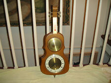 Vintage German Bass Guitar Barometer, Clock & Thermometer-Stand Up Bass Shape