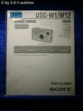 Sony Service Manual DSC W1 /W12 Level 1 Digital Still Camera  (#5871)