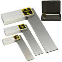 """Machinist Square 90º Right Angle Engineer's 3"""" 4"""" 6"""" Carbon Steel Measure Tool"""