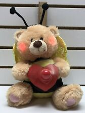 2009 Avon Bee Mine Teddy Bear Valentine's *Sings *Dances *Lights Up Messages Fan