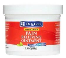 De La Cruz 11% Camphor Ointment Pain Relieving Rub JUMBO 5.5 OZ, USA  Exp. 3/23