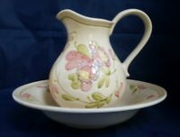 Andrea by Sadek - Jay Willfred Div - Portugal Floral Water Pitcher and Basin Set