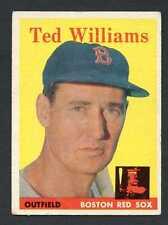 Ted Williams 1958 Topps Baseball #1 Boston Red Sox VG