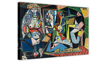 PABLO PICASSO PAINTING LES FEMMES D'ALGER VERSION O FRAMED CANVAS WALL ART PRINT