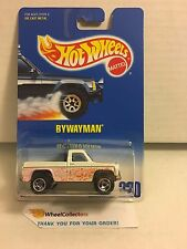 #6 Bywayman #220 * White w/ blue Interior * Blue Card Hot Wheels * E38