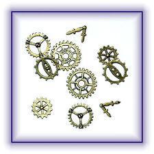 Zahnräder Zahnrad Zeiger 10 Stück 5 verschiedene Steampunk Gothic basteln Neu