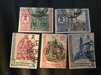 1944 Zaragosa Spain Charity Issue Stamps RARE