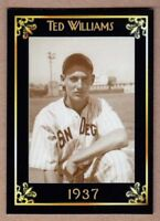 Ted Williams '37 San Diego PCL MC Heritage Series serial # /50 mint condition