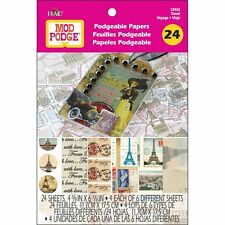 """Mod Podge Podgeable Papers Travel 24 Sheets 4 5/8"""" x 6 7/8"""" 12933"""