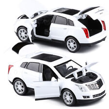 Cadillac SRX SUV 1:32 Metal Diecast Model Car Toy Sound&Light White Gift