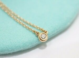 """Tiffany & Co. 18k Rose Gold Peretti By The Yard Diamond Necklace 16"""""""
