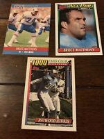 Houston Oilers 3 Card Lot Bruce Matthews Haywood Jeffries Titans