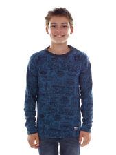 O`Neill Fleece Pullover Function Top Jumper Crew Blau Allover Print