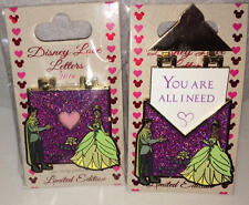 Disney Parks  Love Letters Pin  Tiana & Naveen Princess & the Frog LE 3000  NEW