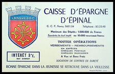 Buvard Publicitaire,  CAISSE D'EPARGNE D'EPINAL - Languedoc
