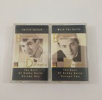 Best of Bobby Darin Cassette Lot - Splish Splash Vol 1 - Mack the Knife Vol 2