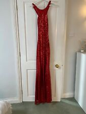 godiva dress size 8 red sequin occasion prom
