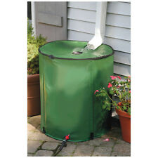 Portable 50 Gallon Rain Barrel - Collapsible Water Collection Storage - Green