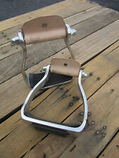 WESTERN STIRRUPS SET ALUMINUM HORSE SADDLE SHOW TACK RUBBER TREAD RODEO ROPER