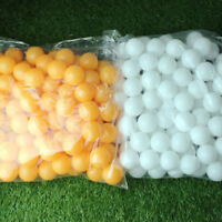 Double 50Pcs White/Orange Plastic Table Tennis Ping Pong Balls Sports Training