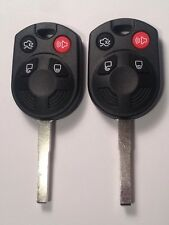 PAIR OEM FORD LASER KEY REMOTE UNCUT KEYLESS ENTRY FOB TRANSMITTERS TYPE 83 CHIP