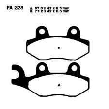 Scooter Brake Pads EBC Sfa228 For Hyosung MS3 125 i 2008 - 2010