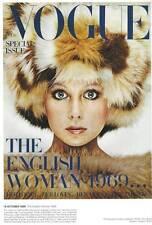 Cubierta de la revista de moda Vogue.. octubre 1969 Patti Boyd